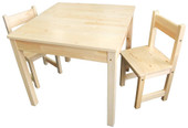 Sunbury - Square Wooden Table and Chairs