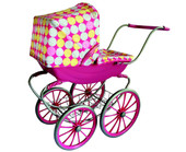 Monarch Toy Antique Style Doll Pram for Pretend Play