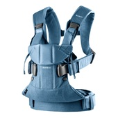Baby Bjorn Baby Carrier One Cotton - DENIM MIDNIGHT BLUE MIX