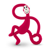 Matchstick Monkey Teething Toy - RUBINE RED