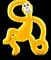 Matchstick Monkey Dancing Teether - YELLOW