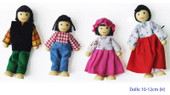 Fun Factory Wooden Doll House Family of 4 Bendable Dolls at Baby Barn Discounts Fun Factory bendable wooden doll set of 4.
