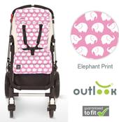 Outlook Pram Liner - PINK ELEPHANT