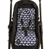 Outlook Mini Pram Liner - BLUE ELEPHANT