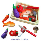 Fun Factory Food Cutting Crate With Knife 13pcs