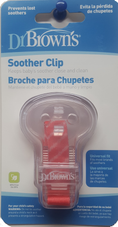 Dr Brown's Pacifier/ Soother Clip - PINK STRIPE