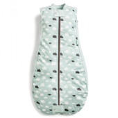 ergoPouch Sheeting Sleeping Bag 0.3 tog 2-12 Months - MINT CLOUDS