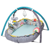 TAF Toys Koala Musical Cosy Gym is a 4 in 1 interactive cozy mat – 1) Newborn cozy mat 2) Baby Interactive Gym 3) Baby Tummy Time helper 4) Cozy mat or a full size mat.
