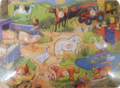 Farm Wooden Puzzle with Knob