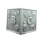 ABC Cube Pewter Money Box