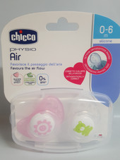 Chicco Physio Air Soother 0-6m 2 Pack (Girl) - SUNFLOWER/TEDDY