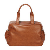 OiOi Faux Leather Carry All Nappy Bag - Tan