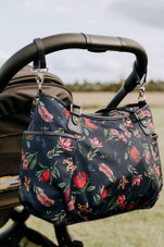 Oi Oi Tote Nappy Bag Botanical Navy/Pink Lining