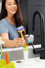 Boon Forb Soap Dispensing Silicone Bottle Brush