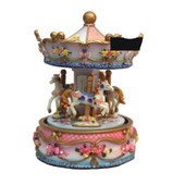 Cotton Candy Pink and Blue Carousel 15cm