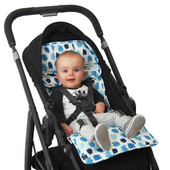 Outlook Cotton Pram Liner BlueIndigo Rain Dots Pattern