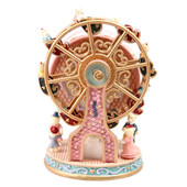 Rotating Ferris Wheel with Bears Resin Music Box