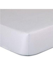 The Peanutshell Cradle Solid Fitted Sheet - GREY