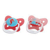 Dr Brown's Prevent Contoured Pacifier 0-6m 2pk - PINK