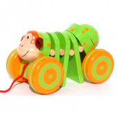 ToysLink Monkey Wooden Pull Along Toy