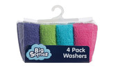 Big Softies 4 pack Face Washers - BRIGHT GIRL