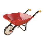 Johnco Red Metal Wheel Barrow