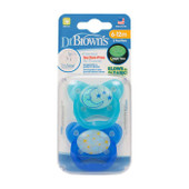 Dr Brown's Prevent Glow in the Dark Soother 2pk 6-12m | Baby Barn Discounts The base of the PreVent dummy is thinner than that of similar dummies, which reduces the negative impact on the child's teeth and mouth.