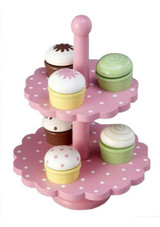 Toyslink Double Level Cupcake Stand at Baby Barn Discounts This sweet cupcake stand and wooden cupcakes is a perfect addition to your play kitchen.