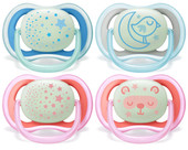 Avent Ultra Air Night Glow in the Dark Soother 6-18m at Baby Barn Discounts ultra air night has extra large air holes to keep sensitive skin soft & dry.