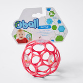 Oball Rattle Random Pick at Baby Barn Discounts The classic OBall ball rattle. So many finger holes make this ball easy for baby to grasp.