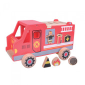 ToysLink Shape Sorter Fire Truck at Baby Barn Discounts This beautiful wooden fire truck is also a shape sorter!