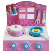 Toyslink Wooden Cook Top Playset at Baby Barn Discounts A lovely wooden play kitchen set that lets your child cook up their favourite pretend feasts.
