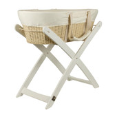 Bebe Care Moses Basket & Stand Deal - WHITE at Baby Barn Discounts The Deal includes a cream Bebe Care moses basket & a stand to snugly fit the moses basket.