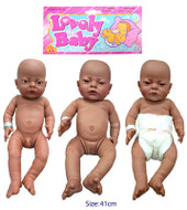 Lovely Baby Anatomically Correct Newborn Baby Black Doll 41cm