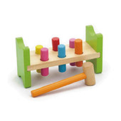 Viga Pound A Peg Bench at Baby Barn Discounts Hammer colorful wooden pegs until they push through the other side.