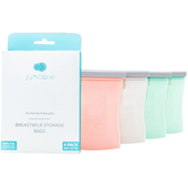 Junobie Reusable Silicone Breastmilk Storage Bag 4pk at Baby Barn Discounts The Junobie Reusable Breastmilk Storage Bag is made from 100% FDA Approved Food Grade Silicone.