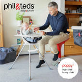 Phil & Teds Poppy High Chair with Metal Legs at Baby Barn Discounts