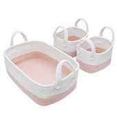 Living Textiles 3pc Nursery Storage Basket Set at Baby Barn Discounts Living textiles 100% cotton rope 3pc storage set will keep everything organised for change and bath time.