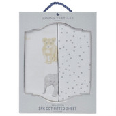 Living Textiles 2 pack Cotton Jersey Cot Fitted Sheet at Baby Barn Discounts Living Textiles cot fitted sheets are generously sized to fit standard and large size cots.