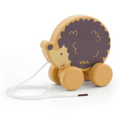 Viga PolarB Pull Along Animals at Baby Barn Discounts A sturdy wooden hedgehog with a long pull along cord, great for imagination and motor skills.