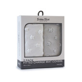 Bubba Blue Fitted Change Mat Covers 2pk at Baby Barn Discounts Bubba Blue's convenient 2 pack fitted change mat cover is super soft.