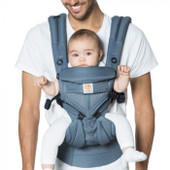 Ergobaby OMNI 360 Baby Carrier All in One Cool Air Mesh OXFORD BLUE at Baby Barn Discounts Omni 360 in a Cool Air Mesh option perfect for the Australian climate.