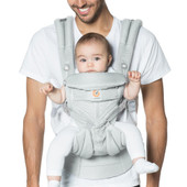 Ergobaby OMNI 360 Baby Carrier All in One Cool Air Mesh PEARL GREY at Baby Barn Discounts Omni 360 in a Cool Air Mesh option perfect for the Australian climate.