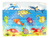 Kaper Kidz Sea Animal Peg Wooden Peg Puzzle at Baby Barn Discounts Kaper kidz peg puzzle introduces some sea animals to the children.