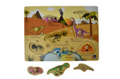 Koala Dream 2 in 1 Dinosaur Peg Wooden Puzzle at Baby Barn Discounts