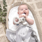Living Textiles Knitted Koala Blanket 75 x 100cm at Baby Barn Discounts Living Textile's Super soft and adorably cute, this sweet Koala blanket is made from 100% cotton knit.