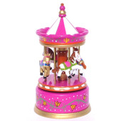 ToysLink Wooden Merry Go Around Purple Carousel at Baby Barn Discounts Beautifully carved wooden merry go round music carousel from toyslink.