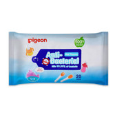 Pigeon Anti-Bacterial Wet Tissues 20wipes at Baby Barn Discounts Pigeon Anti Bacterial Wipes are made from 100% food grade ingredients and effectively kill 99.99% of bacteria.