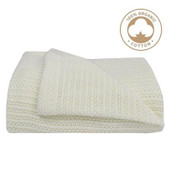 Living Textiles Organic Bassinet/ Cradle Cellular Blanket White at Baby Barn Discounts