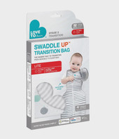 Love to Dream Swaddle Up Transition Bag Lite 0.2 TOG- White at Baby Barn Discounts The Swaddle Up Transition Bag is the easiest and gentlest way to help your baby graduate from swaddling to arms free sleep.
